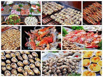 Các loại hải sản phong phú